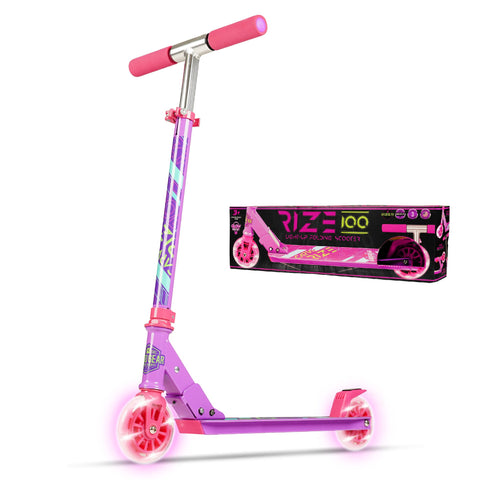 Madd Gear Carve Rize Folding Lightup Razor Scooter Pink
