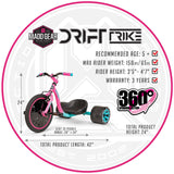 Madd Girls Big Wheel Drift Trike Green Machine