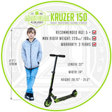 Madd Gear Kruzer 150 Childrens Scooter