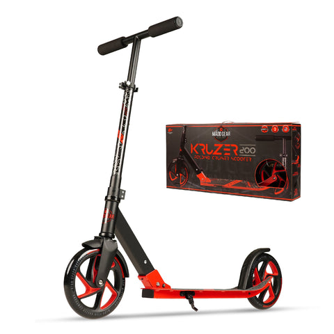 Madd Gear Black Red Kruzer 200 Commuter Scooter
