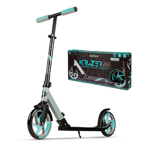 Madd Gear Kruzer 200 Commuter Folding Scooter Grey Teal