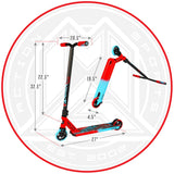 Madd Gear Kick Extreme Stunt Pro Scooter Red Blue Dimensions