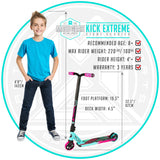 Madd Gear Kick Extreme Stunt Pro Scooter Teal Pink Child