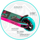 Madd Gear Kick Extreme Stunt Pro Scooter Teal Pink Brake