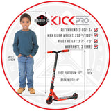 MGP Kick Pro Stunt Scooter Kids Red