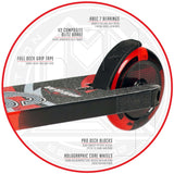 MGP Kick Pro Stunt Scooter Red Brake