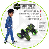 Madd Gear Neon Street Rollers Green Light-Up Kids