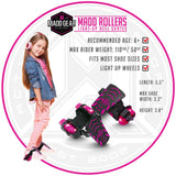 Madd Gear Neon Street Rollers Pink Light-Up