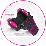 Madd Gear Neon Street Rollers Pink Light-Up Adjustment