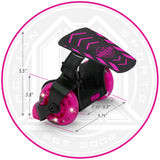 Madd Gear Neon Street Rollers Pink Light-Up Dimensions