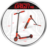 MGP Origin Pro Scooter Size Dimensions