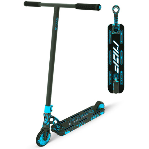 MGP VX9 Nitro Pro Scooter Blue Splatter Trick Stunt Light