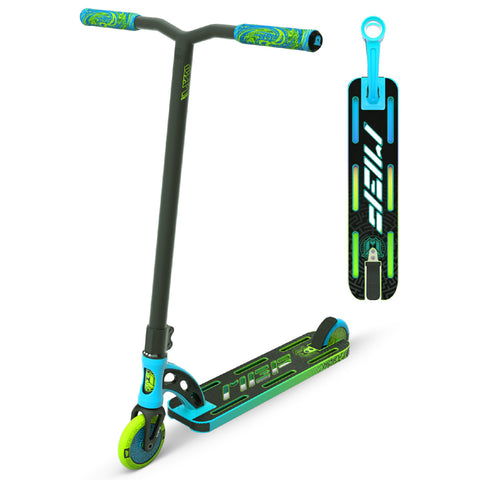 MGP VX9 Pro Scooter Blue Green Stunt Trick Light Lightweight