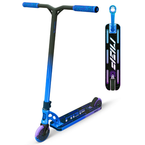 MGP VX9 Team Pro Scooter Purple Blue RP-1 Stunt Trick Light