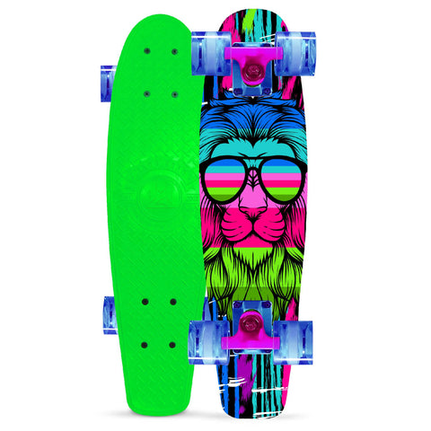 Madd Gear Retro Skateboard Rainbow