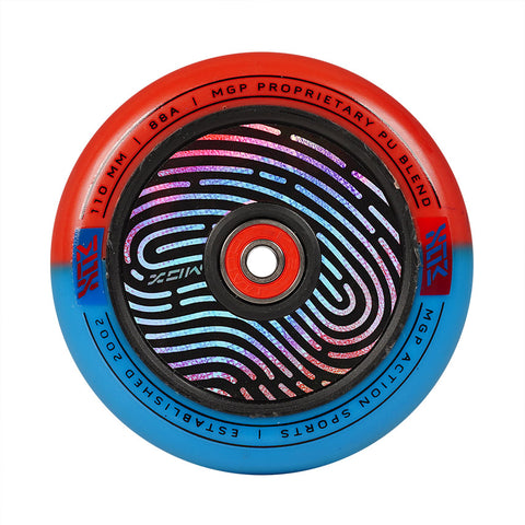 Madd Gear Hollow Core Pro Scooter Wheel Red Blue