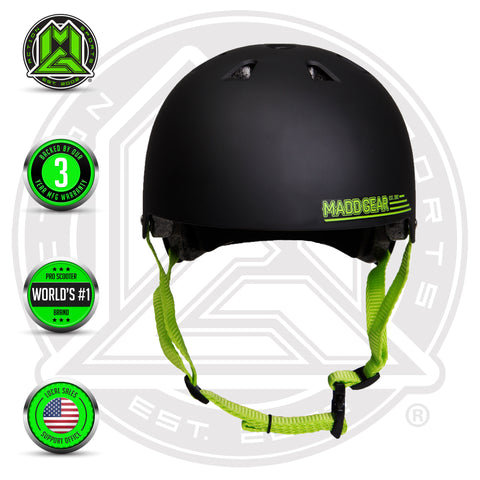 Madd Gear Kids Certified EPS Helmet Black Green