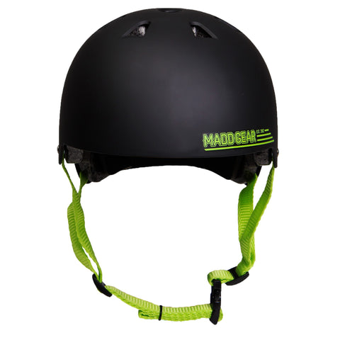 Madd Gear Kids Childrens Certified Helmet CPSC Black Green
