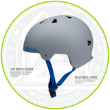 Madd Gear Kids Certified EPS Helmet Grey Blue