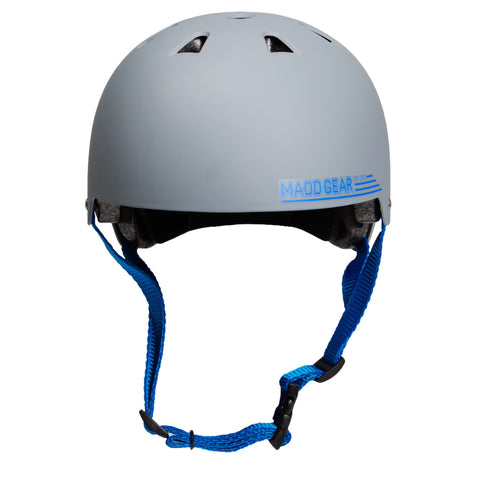 Madd Gear Kids Childrens Certified Helmet CPSC Grey Blue