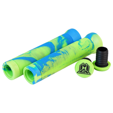 Madd Gear Swirls Scooter Grips Set Green Blue