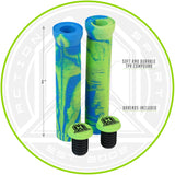 Madd Gear TPR Grind Grips Swirls Blue Green