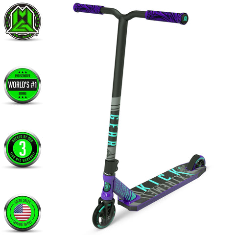 Madd Gear Kick Extreme Stunt Scooter Purple Teal Main