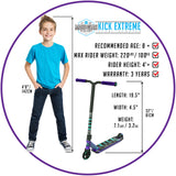Madd Gear Kick Extreme Stunt Scooter Purple Teal Recommended Rider Size