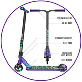 Madd Gear Kick Extreme Stunt Scooter Purple Teal Key Features