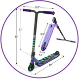 Madd Gear Kick Extreme Stunt Scooter Purple Teal Product Dimensions