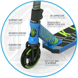 Madd Gear Kick Extreme Stunt Scooter Blue Green Fork