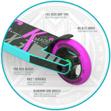 MGP Kick Extreme Stunt Scooter - Teal / Pink