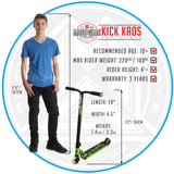 Madd Gear Kick Kaos Stunt Scooter Green Kids
