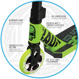 Madd Gear Kick Kaos Stunt Scooter Green Fork
