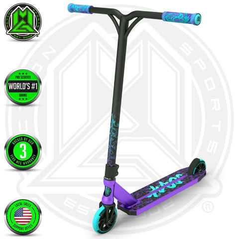 Madd Gear Kick Kaos Stunt Scooter - Purple / Teal Complete
