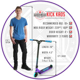 Madd Gear Kick Kaos Stunt Scooter - Purple / Teal Size