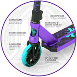 Madd Gear Kick Kaos Stunt Scooter - Purple / Teal Fork