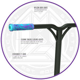 Madd Gear Kick Kaos Stunt Scooter - Purple / Teal Bar