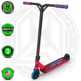 Madd Gear Kick Kaos Stunt Pro Scooter - Red / Blue Complete