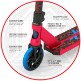 Madd Gear Kick Kaos Stunt Pro Scooter - Red / Blue Fork