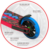 Madd Gear Kick Kaos Stunt Pro Scooter - Red / Blue Brake