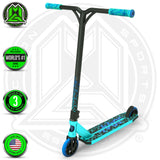 Madd Gear Kick Kaos Stunt Scooter - Teal / Blue Complete