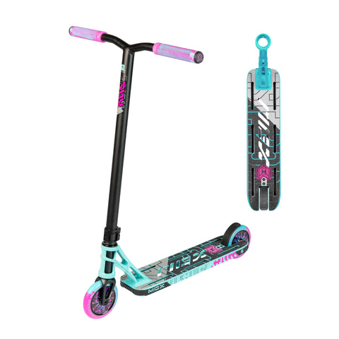 Madd Gear MGX P1 Pro Freestyle Scooter Teal Pink
