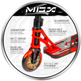 Madd Gear MGX P1 Pro Freestyle Scooter Red Black VX10