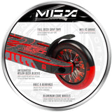 Madd Gear MGX P1 Pro Freestyle Scooter Red Black Hollow Cores
