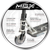 Madd Gear MGX T1 Team Freestyle Scooter Silver Black Aluminum Fork