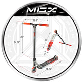 Madd Gear MGX T1 Team Freestyle Scooter Red Butanol VX10