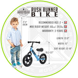 Madd Gear Balance Bike Blue Information