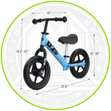 Madd Gear Balance Bike Blue Dimensions