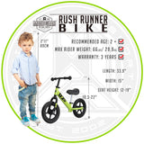 Madd Gear Rush Runner Kids Balance Bike Green Detail